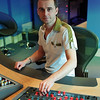 Mastering engineer Matt behind the controls at Air Mastering Studios, London