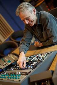 Ray Staff, disk mastering engineer at the controls at Air Mastering Studios, London
