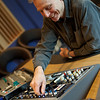 Ray Staff, disk mastering engineer at the controls at Air Mastering Studios, London
