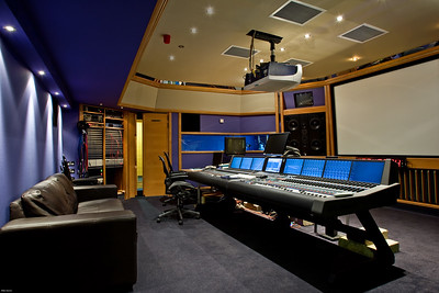 Studio 3 at Air Studios, London.  Post production and film dubbing room.  Find out more about Air Studios: http://www.recordproduction.com/AIR.HTM