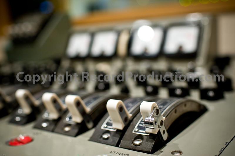 Classic EMI mixing desk at British Grove Studios