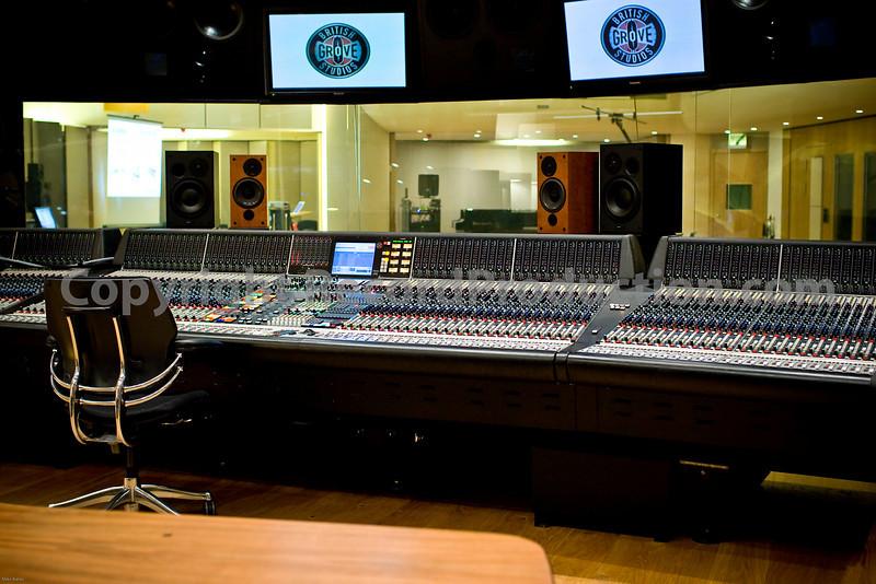 British Grove Studios main control room