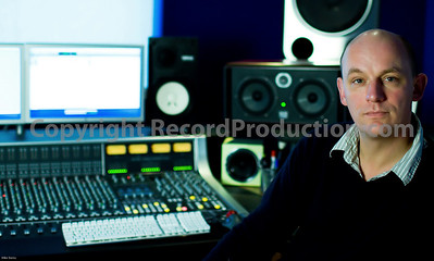 Far Heath recording studios Northamptonshire UK.  Studio owner Angus shows off new SSL mixing console