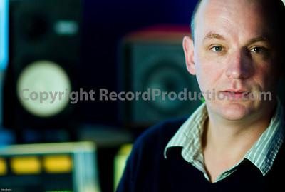 Far Heath recording studios Northamptonshire UK.  Studio owner Angus shows off new SSL mixing console