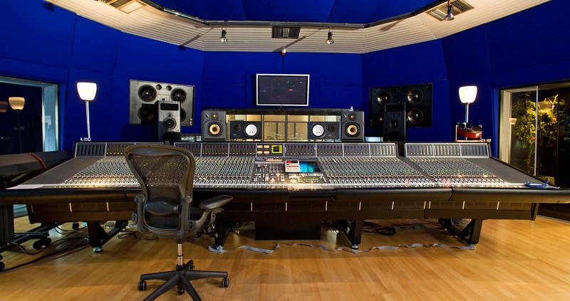 SSL J Series Mixing Console in Recording Studio