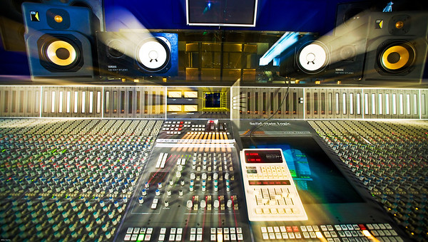 SSL J Series Mixing Console at Hook End Manor Recording Studio