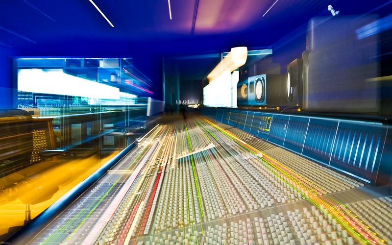 SSL mixing console at Hook End Manor Studios