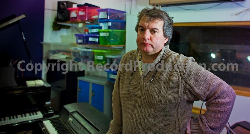 Paul Madden at Intimate recording studios London UK