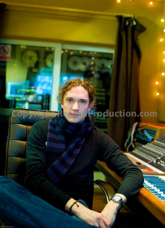 Dan Hawkins, (The Darkness) musician, record producer and studio owner at Leeders Farm recording studios UK.
