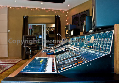 Leeders Farm Recording Studios - Fantastic residential music studio in the UK.  Mixing Console and control room shot