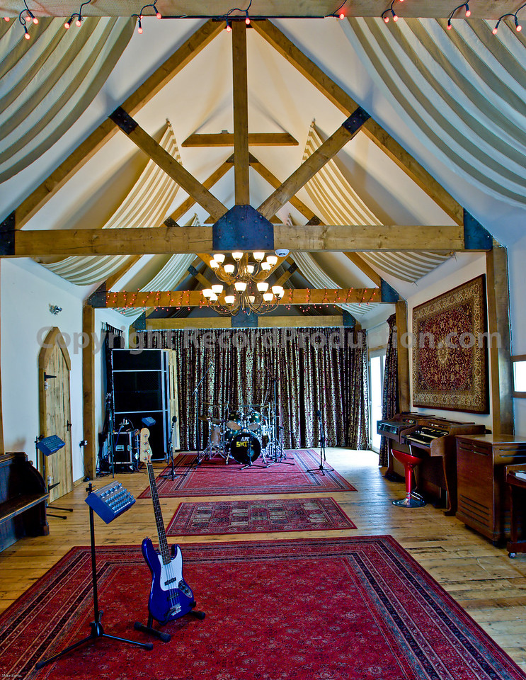 Leeders Farm Recording Studios - Fantastic residential music studio in the UK.  Another view of the vast recording space