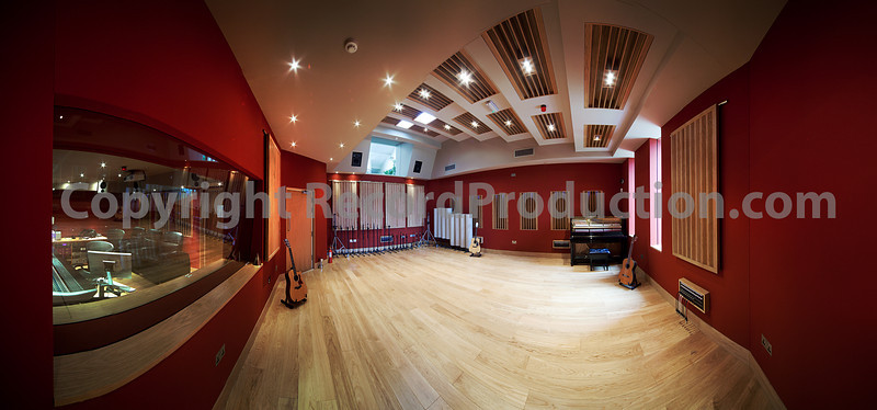 As Mike Oldfield would have said:  One slightly distorted studio