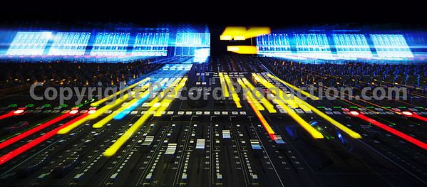 SSL Duality mixing console, creative lighting shot and NOT a Photoshop trick  :-)