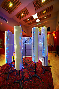 Vocal booth set-up in the main studio area at Modern World