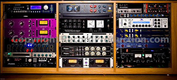 Outboard studio equipment at Modern World Studios, UK