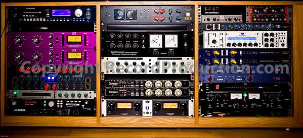 Outboard studio equipment at Modern World Studios, UK