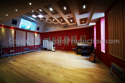 Wide angle shot of Modern World's main recording space