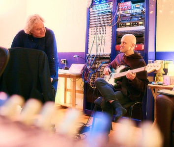 Producer Gary Stevenson with Nigel Powell