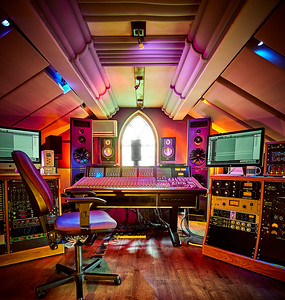 Woodworm Studios, control room wide angle