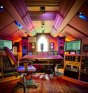 Woodworm Studios, control room wide angle