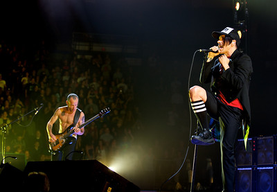 The Red Hot Chili Peppers perform Wednesday at US Bank Arena