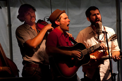 First Steel Wheels set on Friday. Trent Wagler on guitar, Jay Lapp on mandolin,  Eric Brubaker on fiddle, Brian Dickel on upright bass. The Wheels were the driving force behind this festival, which was named after a song Trent learned from his grandfather.