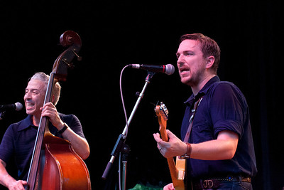 Jimmy Sutton on upright bass, JD McPherson on vocals and lead guitar.