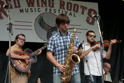 Chas Justus, Chris Miller, Daniel Coolik, and Glen Fields of The Revelers.,