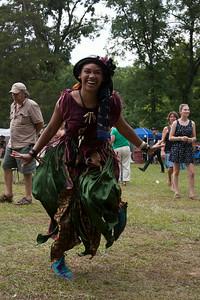 Voodoo woman dancing to The Revelers.
