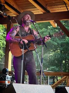 Gabriel Kelley of the Hog Slop String Band.