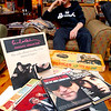 Johnny Girouard is a Beatles fan with a ton of memoribilia and on thursday night he talk and about the Beatles and the 50th anniversary of their first American TV appearance in his house surrounded by all the  music posters, records, instruments and other stuff he has collected over the years. On the table in front of him as he talks is some books, magazines and a game related to the band.  SENTINEL & ENTERPRISE/JOHN LOVE