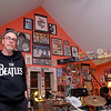 Johnny Girouard is a Beatles fan with a ton of memoribilia and on thursday night he talk and about the Beatles and the 50th anniversary of their first American TV appearance in his house surrounded by all the  music posters, records, instruments and other stuff he has collected over the years. Many of this stuff is Beatles related but not all.  SENTINEL & ENTERPRISE/JOHN LOVE