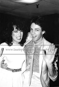 "RS_101 Musician and actor (""General Hospital"" ""Californication"") Rick Springfield after a performance at The Capital Theater in Passaic, New Jersey. Rick Springfield is pictured with singer Karla DeVito who opened the show."