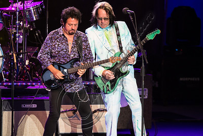 LOS ANGELES, CA - JULY 21:  Musicians Steve Lukather (L) and Todd Rundgren perform with Ringo Starr and his All Starr band at The Greek Theatre on July 21, 2012 in Los Angeles, California.  (Photo by Chelsea Lauren/WireImage)