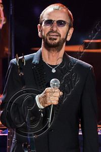 LOS ANGELES, CA - JULY 21:  Musician Ringo Starr performs with his All Starr band at The Greek Theatre on July 21, 2012 in Los Angeles, California.  (Photo by Chelsea Lauren/WireImage)