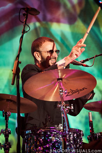 Ringo Starr performs with His All-Starr Band at Ruth Eckerd Hall in Clearwater, Florida on July 13, 2010. The band also features Wally Palmar, Rick Derringer, Edgar Winter, Gary Wright, Richard Page, and Gregg Bissonette.