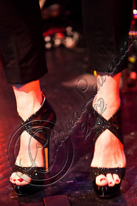 WEST HOLLYWOOD, CA - MAY 04:  Singer Rita Wilson (shoe detail) performs at Troubadour on May 4, 2012 in West Hollywood, California.  (Photo by Chelsea Lauren/WireImage)