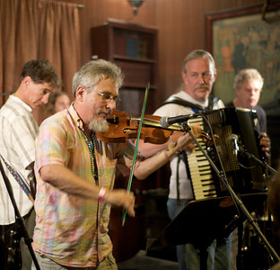 Lagniappe, Cincinnati's only Cajun Gypsy New Orleans Jazz band performs at the Southgate House for Rivertown Breakdown