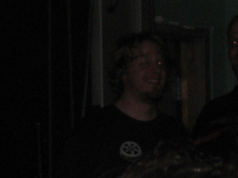 No one enjoyed the show more than former GBV bassist Chris Slusarenko. He and manager Rich Turiel watched the show from the backstage entrance door. You could see Chris singing, dancing, and jumping up and down from inside the doorway.