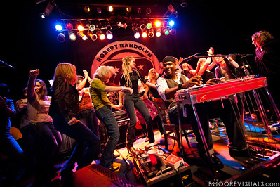"Robert Randolph of Robert Randolph & The Family Band performs as ladies from the crowd join him onstage on February 10, 2011 in support of ""We Walk This Road"" at State Theatre in St. Petersburg, Florida"