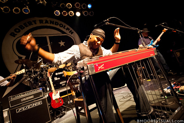 "Robert Randolph and Adam ""Shmeeans"" Smirnoff of Robert Randolph & The Family Band perform on February 10, 2011 in support of ""We Walk This Road"" at State Theatre in St. Petersburg, Florida"