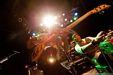 """Danyel Morgan and Robert Randolph of Robert Randolph & The Family Band perform on February 10, 2011 in support of """"We Walk This Road"""" at State Theatre in St. Petersburg, Florida"""