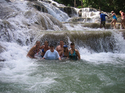 The gang at Dunn's River Falls.