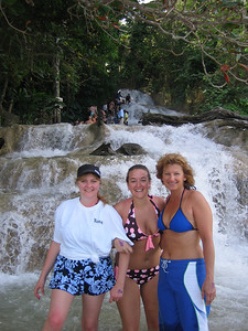 Dianne, Jesse, and Mary Ann at Dunn's River Falls.