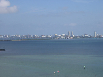 View of Miami from our hotel room.