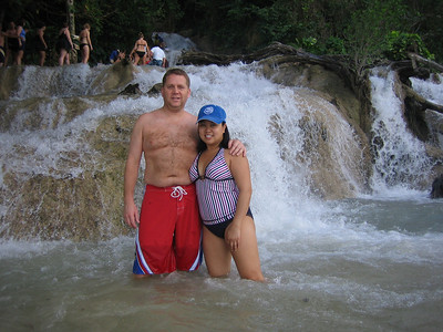 Bryan and Jackie at Dunn's River Falls.