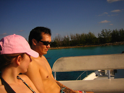 Judith and Chris during the Snorkel Adventure with Sharks.
