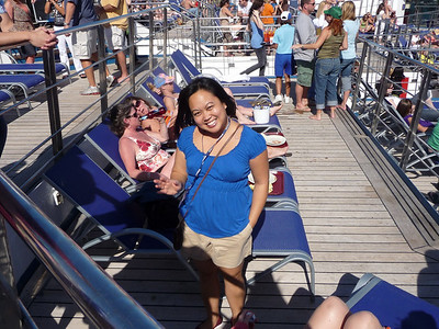 Photo courtesy of Res Jackson - Jackie on the Lido Deck.