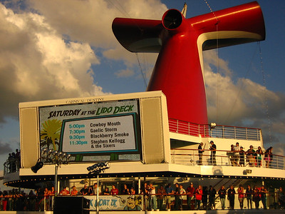 The Lido Deck and big screen.