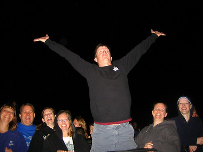 """Kevin as the """"King of the World"""""""